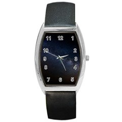 Cosmos Dark Hd Wallpaper Milky Way Barrel Style Metal Watch