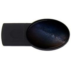 Cosmos Dark Hd Wallpaper Milky Way Usb Flash Drive Oval (4 Gb) by BangZart
