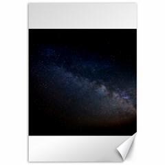 Cosmos Dark Hd Wallpaper Milky Way Canvas 12  X 18   by BangZart