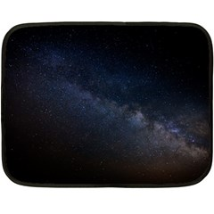 Cosmos Dark Hd Wallpaper Milky Way Fleece Blanket (mini) by BangZart