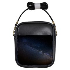 Cosmos Dark Hd Wallpaper Milky Way Girls Sling Bags by BangZart