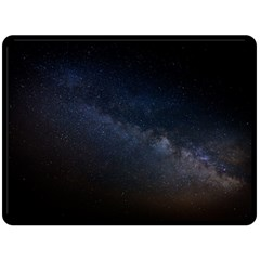Cosmos Dark Hd Wallpaper Milky Way Fleece Blanket (large)