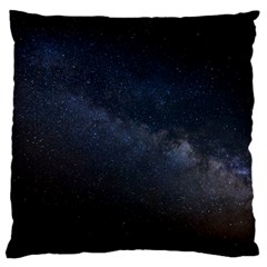 Cosmos Dark Hd Wallpaper Milky Way Large Cushion Case (one Side) by BangZart