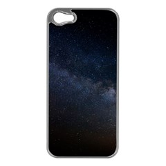 Cosmos Dark Hd Wallpaper Milky Way Apple Iphone 5 Case (silver) by BangZart