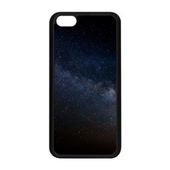 Cosmos Dark Hd Wallpaper Milky Way Apple Iphone 5c Seamless Case (black)