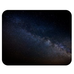 Cosmos Dark Hd Wallpaper Milky Way Double Sided Flano Blanket (medium)  by BangZart