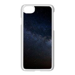 Cosmos Dark Hd Wallpaper Milky Way Apple Iphone 7 Seamless Case (white) by BangZart
