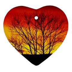 Sunset Abendstimmung Ornament (heart)