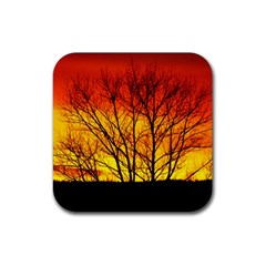 Sunset Abendstimmung Rubber Square Coaster (4 Pack)  by BangZart