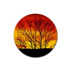 Sunset Abendstimmung Rubber Round Coaster (4 Pack)  by BangZart