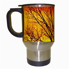Sunset Abendstimmung Travel Mugs (white) by BangZart