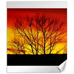 Sunset Abendstimmung Canvas 8  X 10  by BangZart