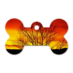 Sunset Abendstimmung Dog Tag Bone (two Sides)