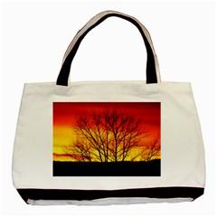 Sunset Abendstimmung Basic Tote Bag (two Sides) by BangZart