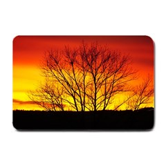 Sunset Abendstimmung Small Doormat  by BangZart