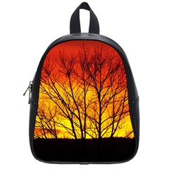 Sunset Abendstimmung School Bags (small)  by BangZart