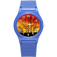 Sunset Abendstimmung Round Plastic Sport Watch (s) by BangZart