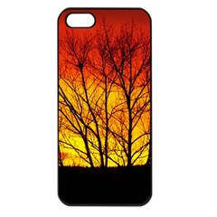 Sunset Abendstimmung Apple Iphone 5 Seamless Case (black)