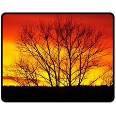 Sunset Abendstimmung Double Sided Fleece Blanket (medium)