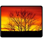 Sunset Abendstimmung Double Sided Fleece Blanket (Large)  80 x60 Blanket Front