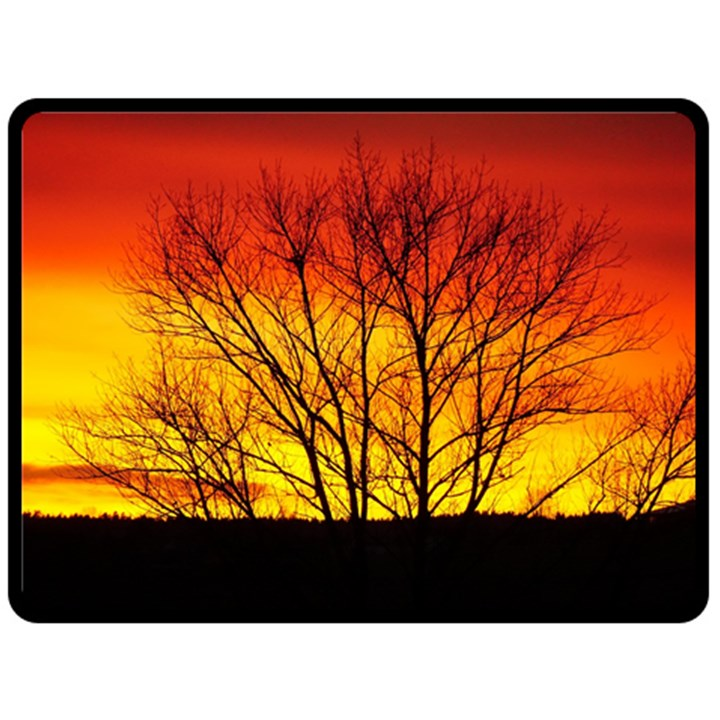 Sunset Abendstimmung Double Sided Fleece Blanket (Large)