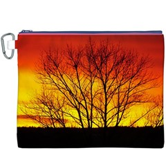 Sunset Abendstimmung Canvas Cosmetic Bag (xxxl) by BangZart