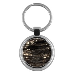 Lake Water Wave Mirroring Texture Key Chains (round)  by BangZart