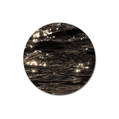 Lake Water Wave Mirroring Texture Magnet 3  (round) by BangZart