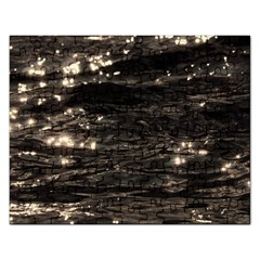 Lake Water Wave Mirroring Texture Rectangular Jigsaw Puzzl by BangZart