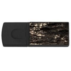 Lake Water Wave Mirroring Texture Usb Flash Drive Rectangular (4 Gb) by BangZart