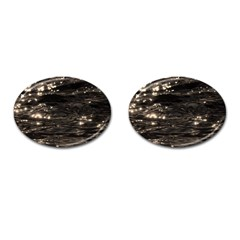 Lake Water Wave Mirroring Texture Cufflinks (oval) by BangZart