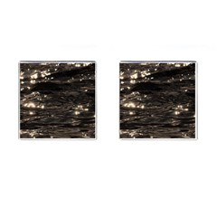 Lake Water Wave Mirroring Texture Cufflinks (square) by BangZart