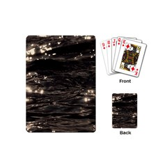 Lake Water Wave Mirroring Texture Playing Cards (mini)