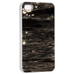 Lake Water Wave Mirroring Texture Apple Iphone 4/4s Seamless Case (white) by BangZart