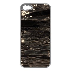 Lake Water Wave Mirroring Texture Apple Iphone 5 Case (silver) by BangZart