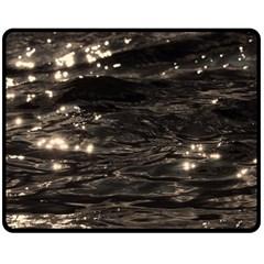 Lake Water Wave Mirroring Texture Double Sided Fleece Blanket (medium)