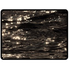 Lake Water Wave Mirroring Texture Double Sided Fleece Blanket (large)  by BangZart