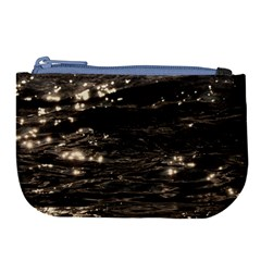 Lake Water Wave Mirroring Texture Large Coin Purse by BangZart