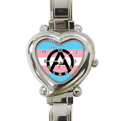 Anarchist Pride Heart Italian Charm Watch by TransPrints