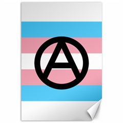 Anarchist Pride Canvas 12  X 18   by TransPrints