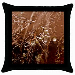 Ice Iced Structure Frozen Frost Throw Pillow Case (black) by BangZart