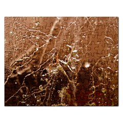 Ice Iced Structure Frozen Frost Rectangular Jigsaw Puzzl by BangZart