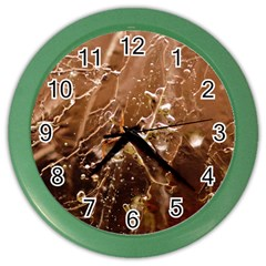 Ice Iced Structure Frozen Frost Color Wall Clocks