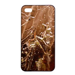 Ice Iced Structure Frozen Frost Apple Iphone 4/4s Seamless Case (black)