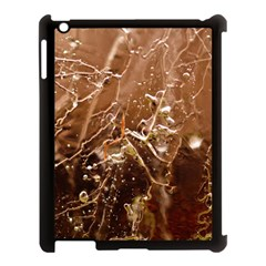 Ice Iced Structure Frozen Frost Apple Ipad 3/4 Case (black)