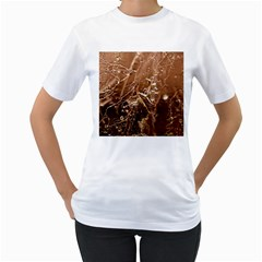 Ice Iced Structure Frozen Frost Women s T Shirt (white)