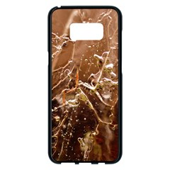 Ice Iced Structure Frozen Frost Samsung Galaxy S8 Plus Black Seamless Case