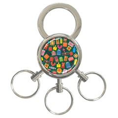 Presents Gifts Background Colorful 3 Ring Key Chains by BangZart
