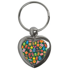 Presents Gifts Background Colorful Key Chains (heart)