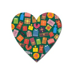 Presents Gifts Background Colorful Heart Magnet by BangZart